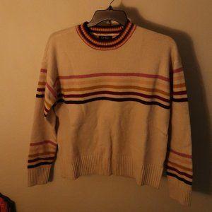 Jessica Simpson Multi Strip Sweater Large